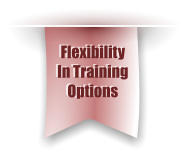 Flexibility  In Training Options